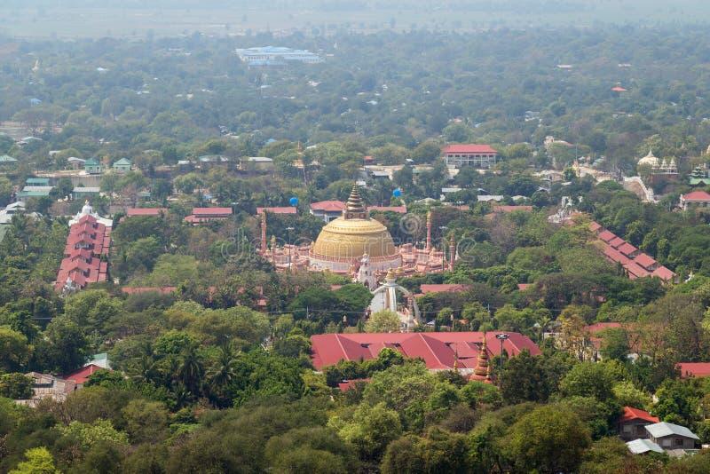 Sitagu国际佛教学院在实皆 免版税库存图片