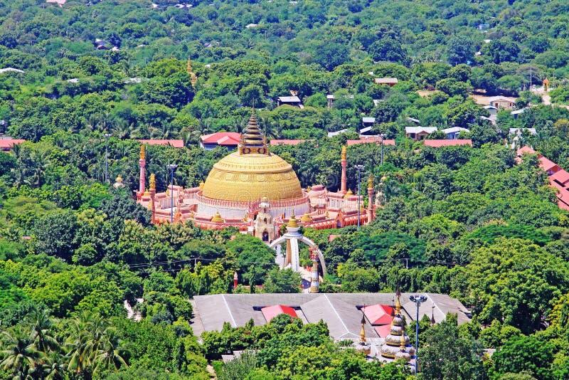 Sitagu国际佛教Accedamy,实皆,缅甸 免版税库存照片