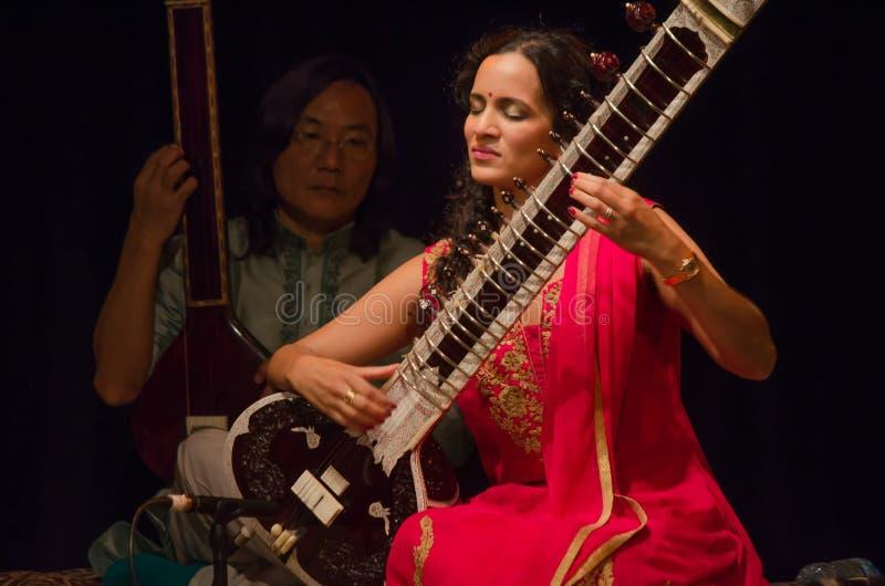 Sitarist Anoushka Shankar fotografia stock