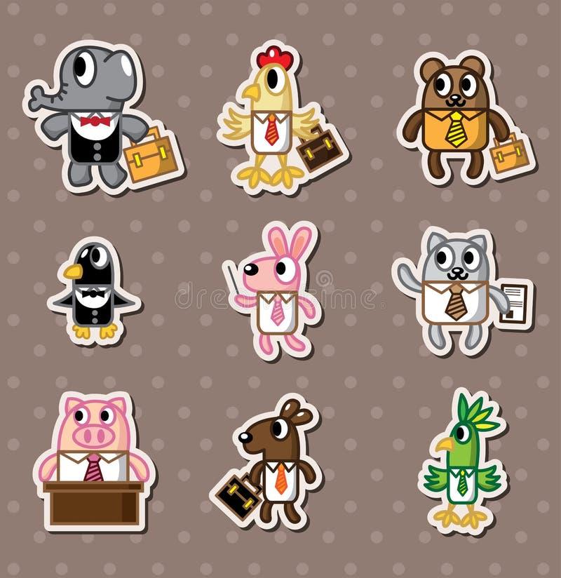 Sitckers animais do trabalhador ilustração royalty free