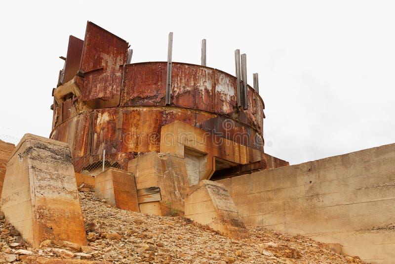 Site abandonné de mine photo stock