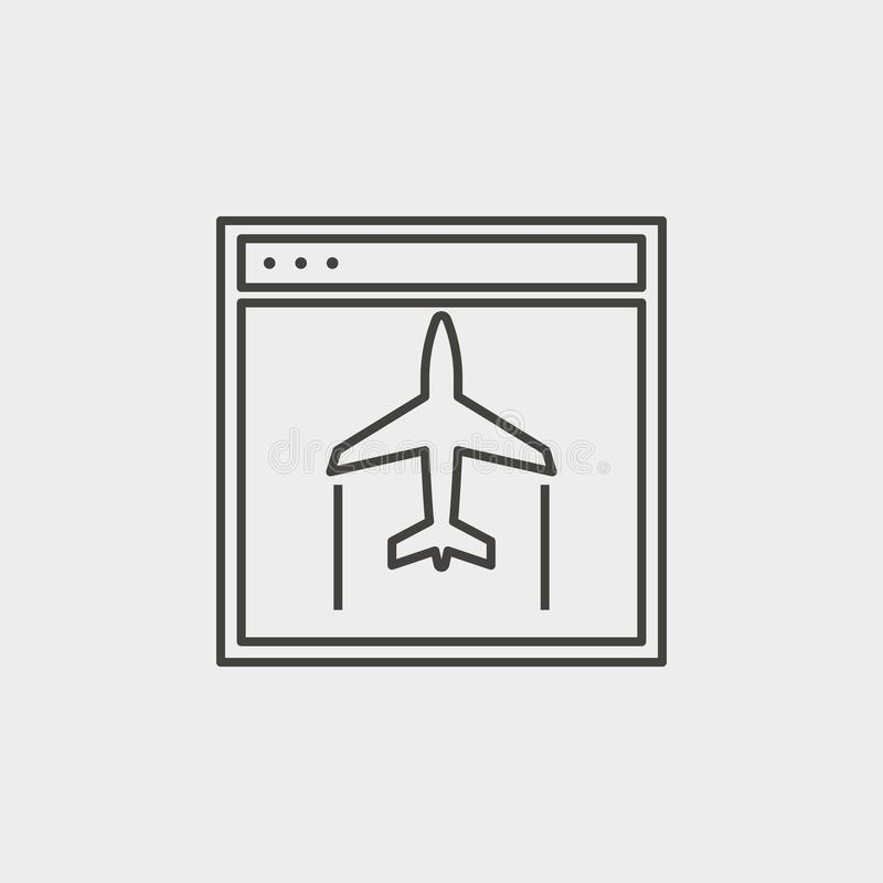 Site, aircraft, outline, icon. Web Development Vector Icon. Element of simple symbol for websites, web design, mobile app, vector illustration