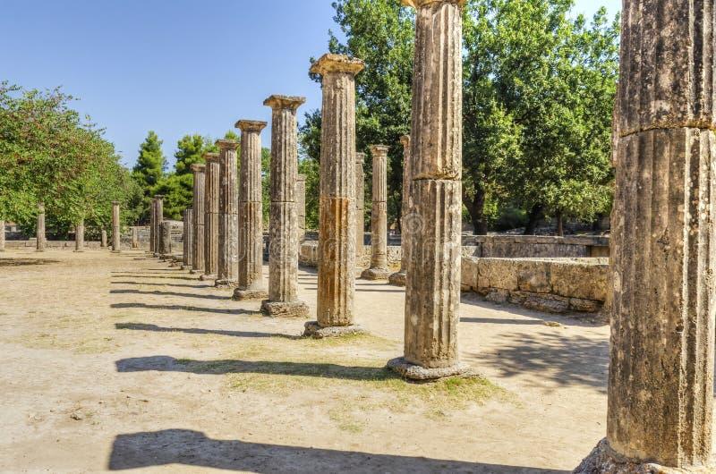 Site antique d'Olympia, Grèce photos stock