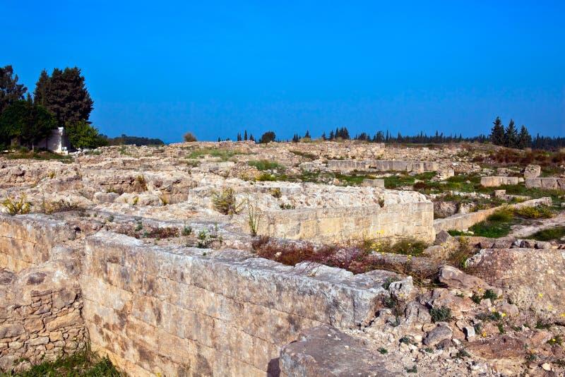 Site antique de la Syrie - d'Ugarit près de Latakia image stock