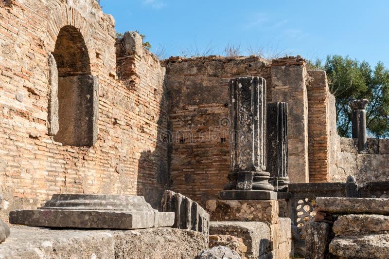 Site archéologique d'Olympia, Grèce photographie stock libre de droits