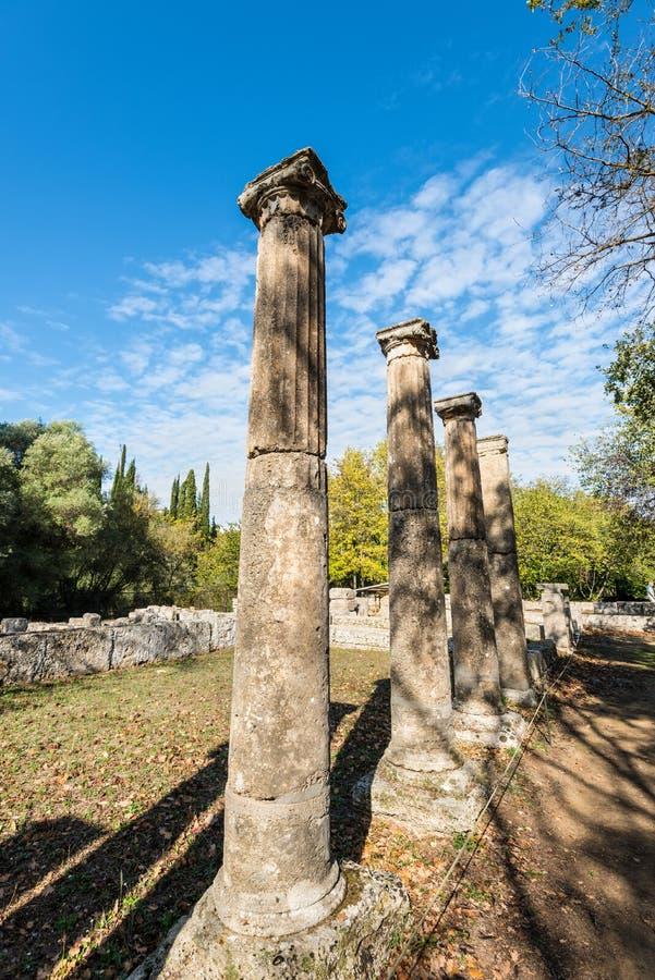 Site archéologique d'Olympia, Grèce photographie stock