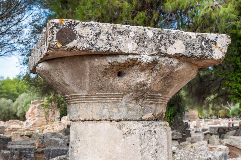 Site archéologique d'Olympia, Grèce photo stock