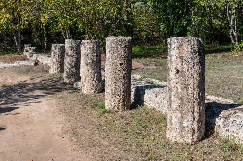 Site archéologique d'Olympia, Grèce images libres de droits