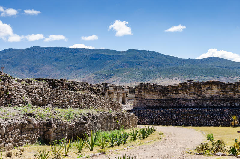 Site archéologique de Mitla photographie stock libre de droits