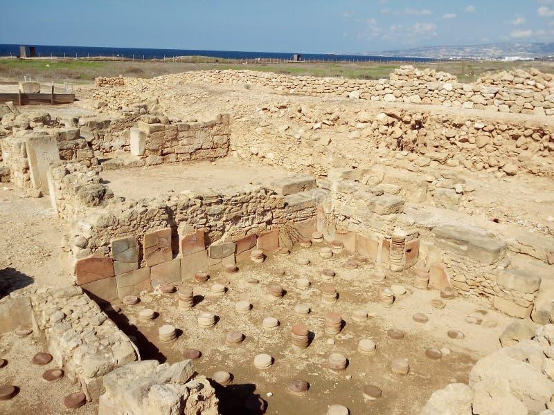 Site archéologique de Paphos image libre de droits