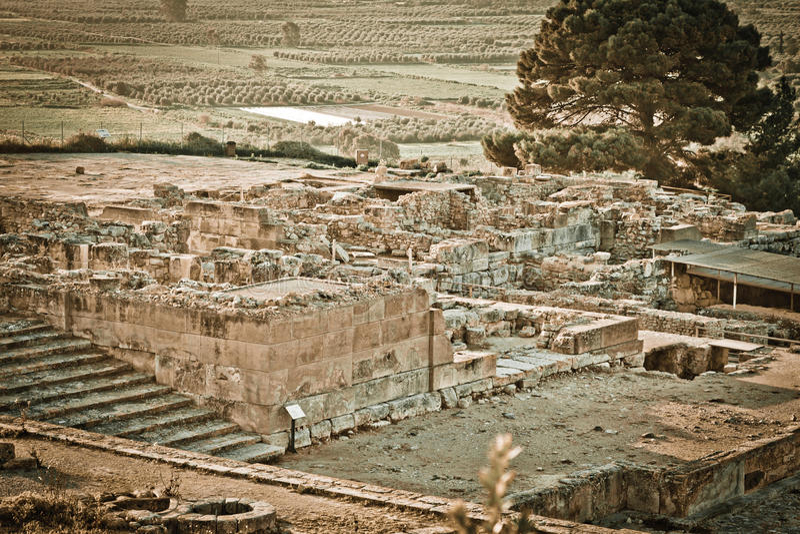Site archéologique de Phaistos photo libre de droits