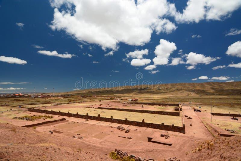 Site archéologique de Tiwanaku bolivia images libres de droits