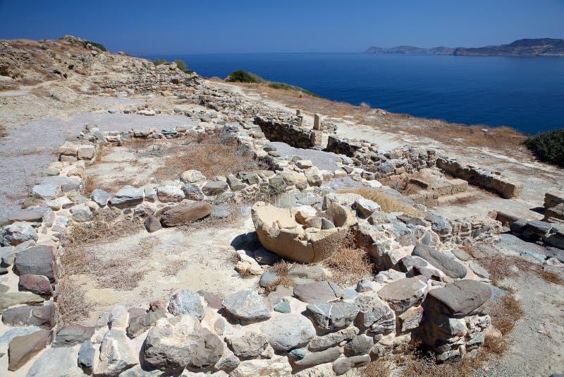 Site archéologique Sitia Crète de Tripitos photos libres de droits