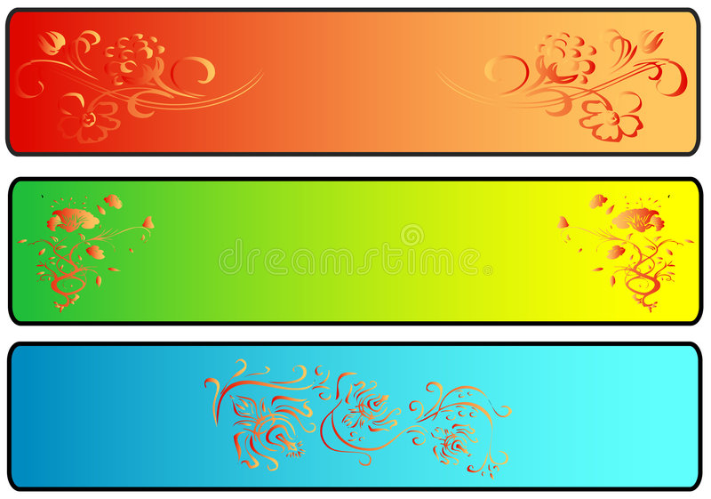 Site Banners. Easy to resize or change color royalty free illustration