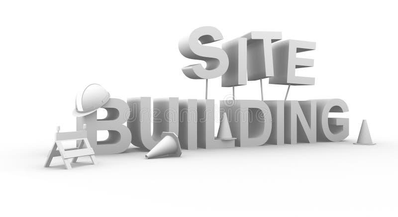 Site building. 3d rendered concept royalty free illustration