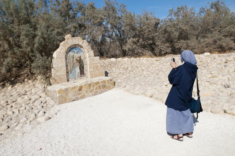 The site of the christening of Jesus stock images