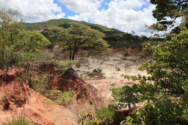 Site d'âge de pierre d'Isimila images libres de droits