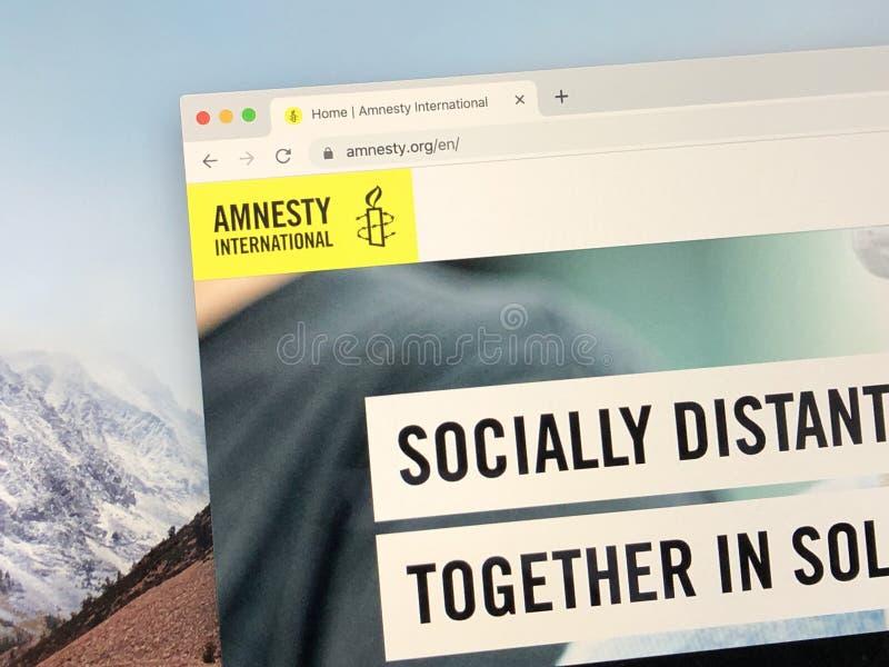 Site da Anistia Internacional fotos de stock