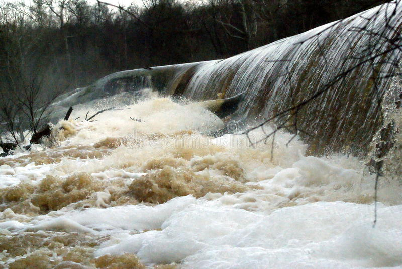 Site de barrage image stock