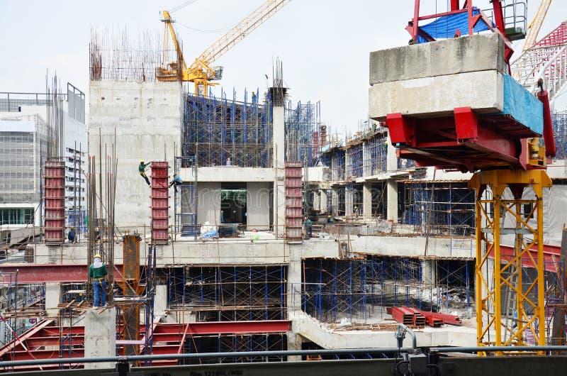Site de construction de bâtiments chez la Thaïlande image stock