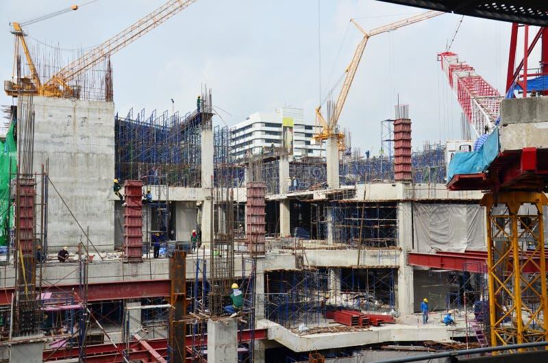 Site de construction de bâtiments chez la Thaïlande photographie stock
