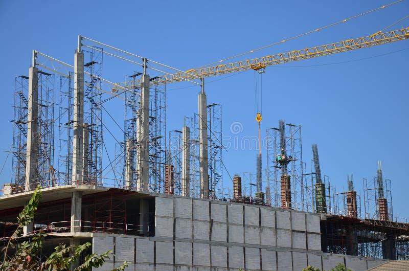 Site de construction de bâtiments chez la Thaïlande photo stock
