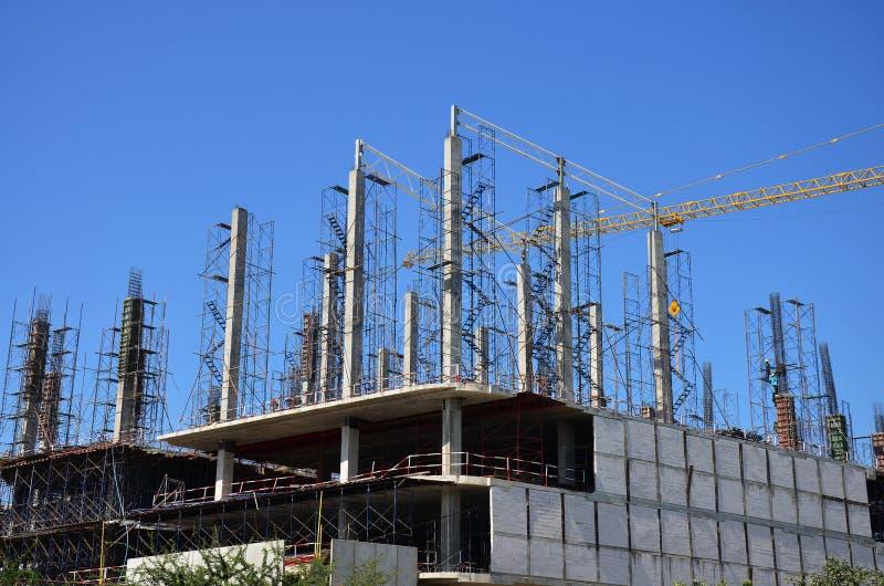 Site de construction de bâtiments chez la Thaïlande images libres de droits