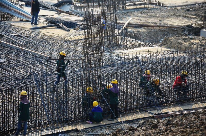 Site de construction de bâtiments chez la Thaïlande photos libres de droits