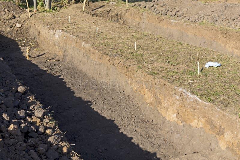 Site de creusement archéologique sur Lacul Morii image libre de droits