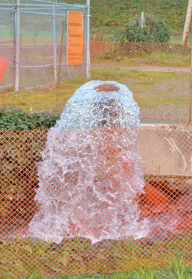 Site de essai d'eau de puits photo libre de droits