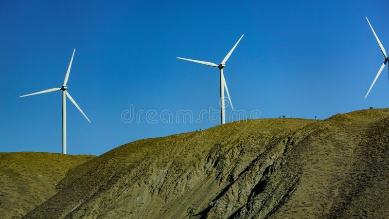 Site de ferme de vent, la Californie du sud, Etats-Unis photographie stock