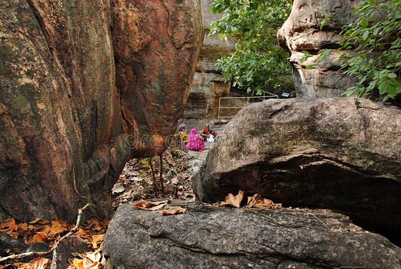 Site de patrimoine mondial de Bhimbetka-. images stock
