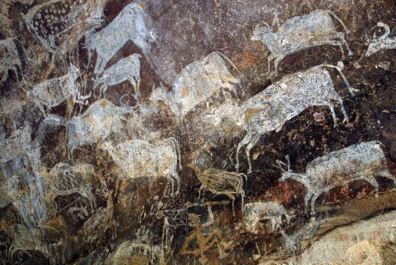 Site de patrimoine mondial de Bhimbetka- photographie stock libre de droits