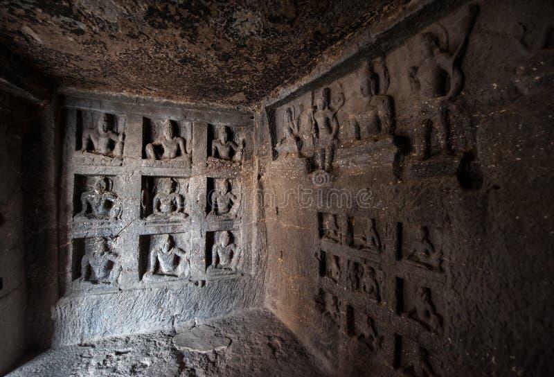 Site de patrimoine mondial de l'UNESCO d'Ellora Caves photo stock