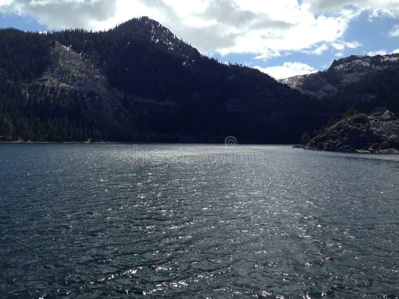 Site de touristes populaire de vue du lac Tahoe la Californie photos libres de droits