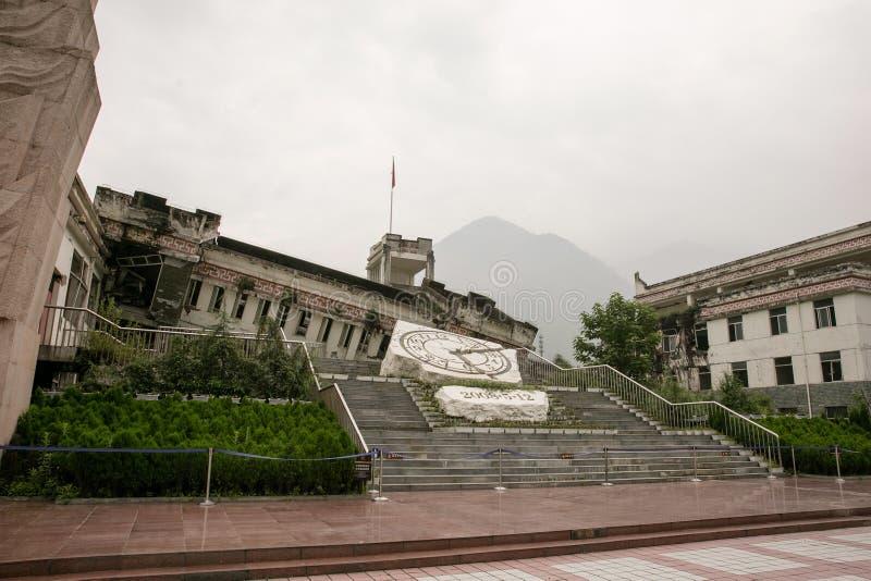 Site de tremblement de terre de la Chine Sichuan image stock