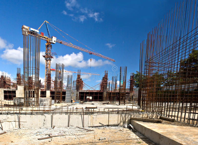 Site en construction 2 images stock