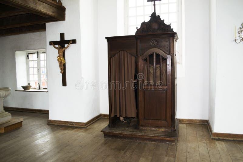 Site historique national canadien confessionnel de Louisbourg de chapelle militaire de la Communauté photo libre de droits