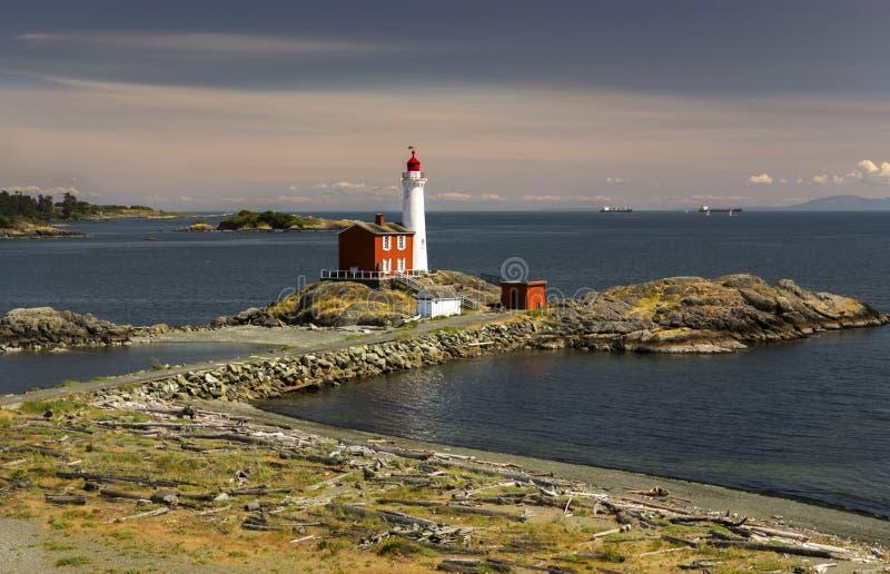 Site historique national canadien Victoria British Columbia de phare de Fisgard photographie stock