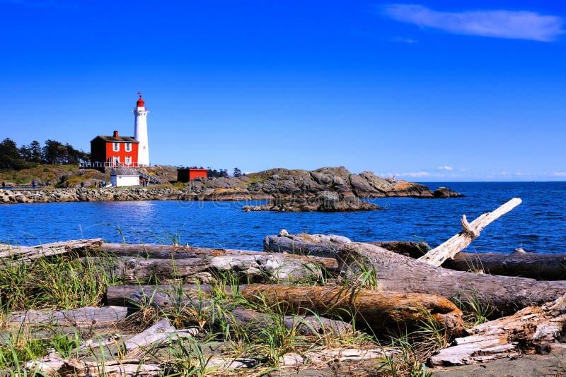 Site historique national de phare de Fisgard près de Victoria, Canada photo libre de droits
