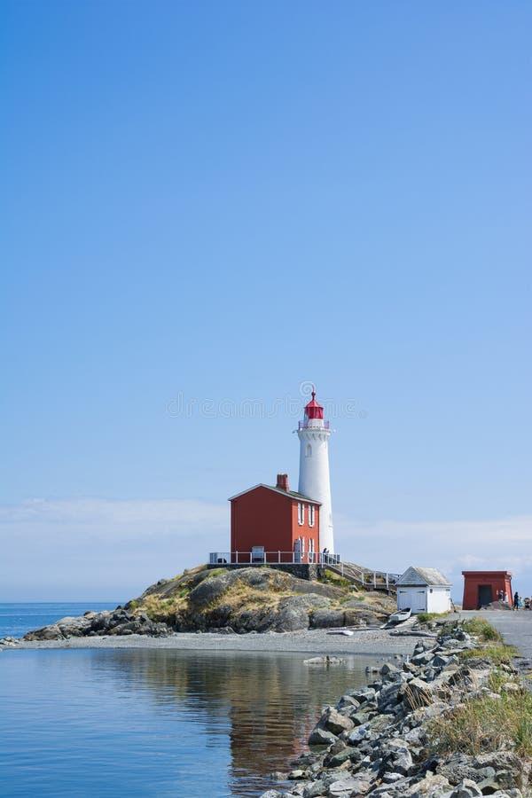 Site historique national de phare de Fisgard, sur l'île de Fisgard à image stock