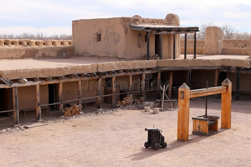 Site historique national fort coudé du ` s de vieux photographie stock