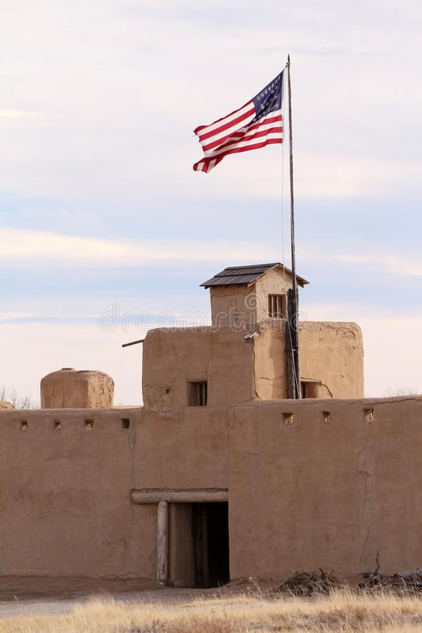 Site historique national fort coudé du ` s de vieux photos stock