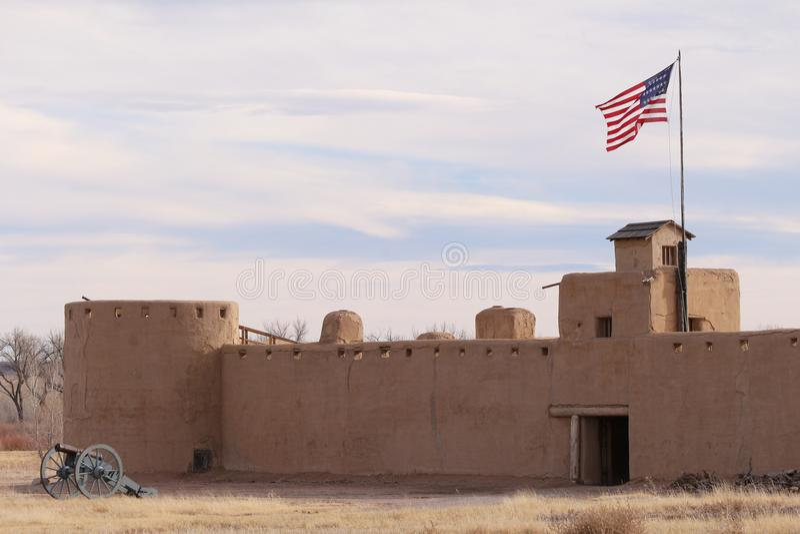 Site historique national fort coudé du ` s de vieux image stock