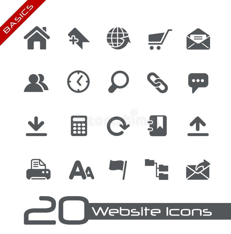 Site-Ikonen-//-Grundlagen lizenzfreie abbildung