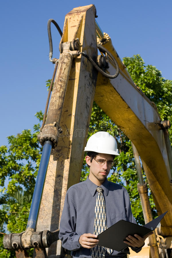 On site inspector royalty free stock photo