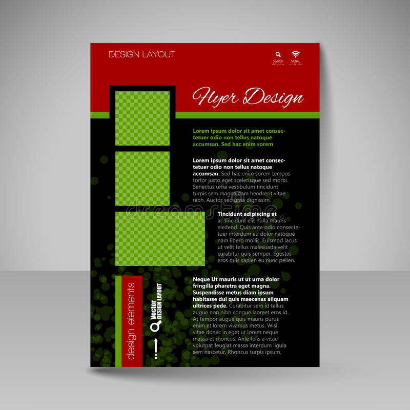 Site layout for design - flyer vector illustration