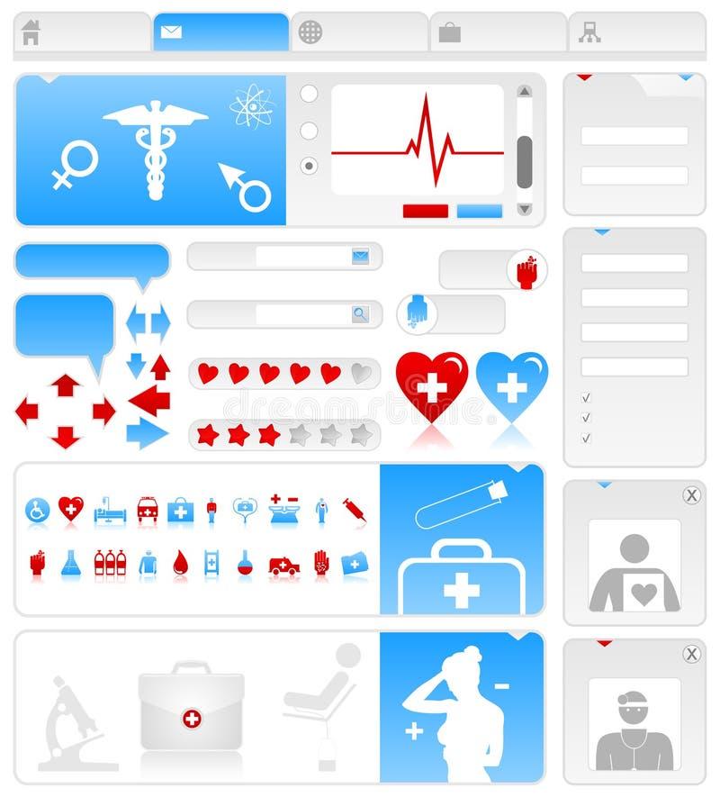 Site médical illustration de vecteur