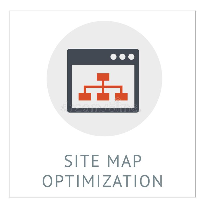 Site Map omtimization Simpel Logo Icon Vector Ilustration vector illustration