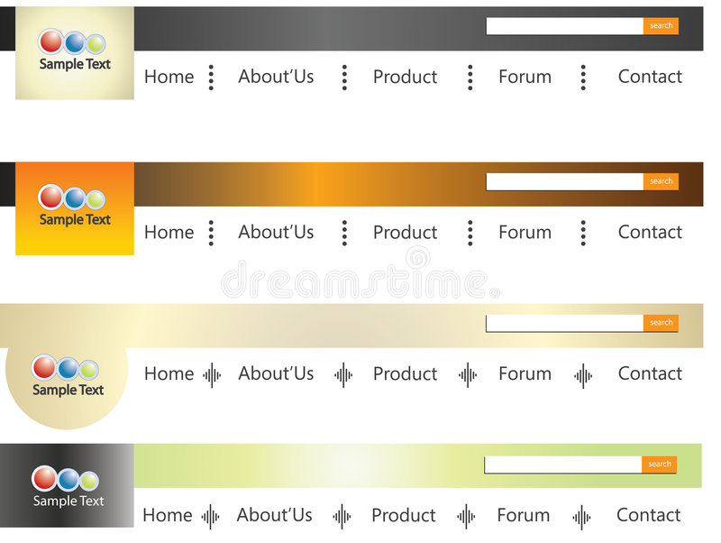 Site-Menü lizenzfreie abbildung